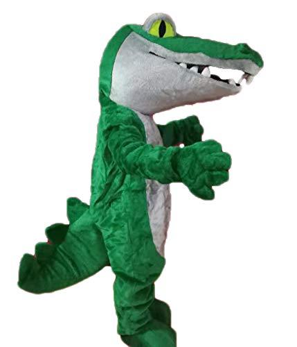 Stock Green Crocodile Mascot Costume for Party Animal Mascot Costumes Advertising Deguisement Mascotte