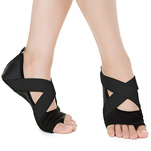 Womens Gymnastics Toe Grip Slip Girls Dance Yoga JOINFREE Black Non Socks Half Ballet Shoes FgxSw7vUf