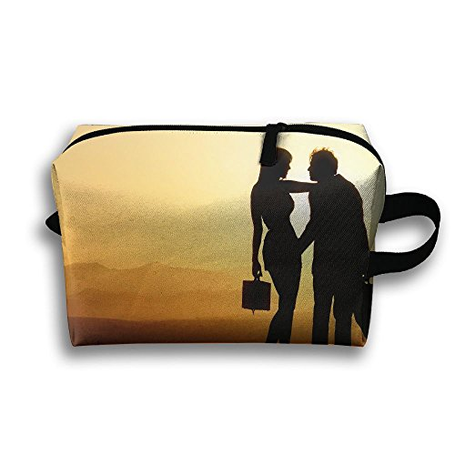 LEIJGS Couple On Mountains Sunset Small Travel Toiletry Bag Super Light Toiletry Organizer For Overnight Trip Bag by LEIJGS
