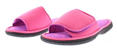 Image of Astra House Slippers for Women,Memory Foam Bedroom Flip Flop Slipper Open Toe Fuchsia L 9 US