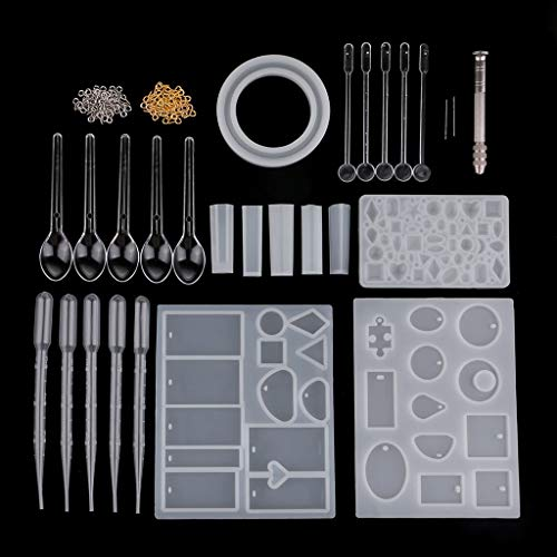 Dalab Assorted Jewelry Making Molds Kits Silicone Moulds Craft Supplies Tools Chocolate Kids Candy Making Moulds