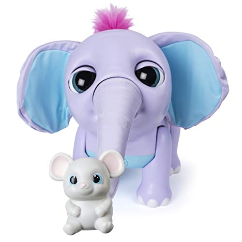 41fiOg iKUL - Wildluvs Juno My Baby Elephant with Interactive Moving Trunk & Over 150 Sounds & Movements