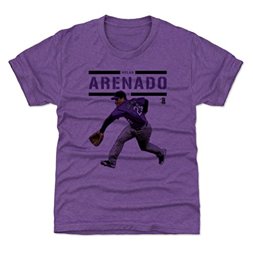 500 LEVEL Colorado Baseball Youth Shirt - Kids X-Small (4-5Y) Heather Purple - Nolan Arenado Play - Rockies Colorado Shirt Classic