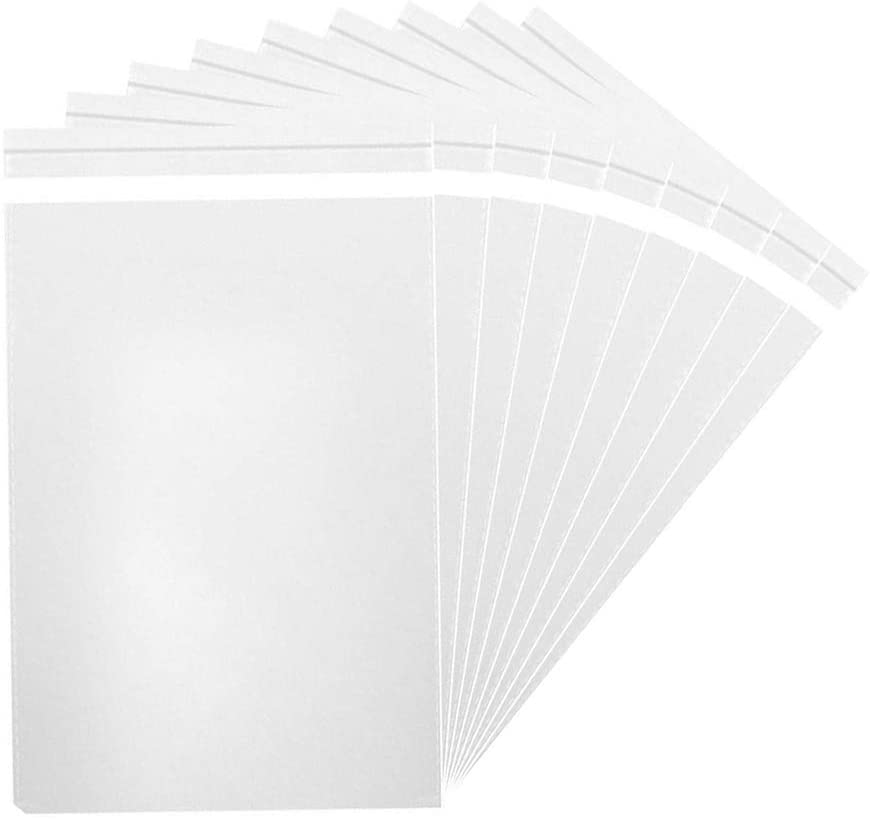 MoloTAR || 200 Pcs 5'' x 7'' Clear Resealable Cello/Cellophane Good for Bakery,Adhesive Treat, Candle, Soap, Cookie Poly Bags