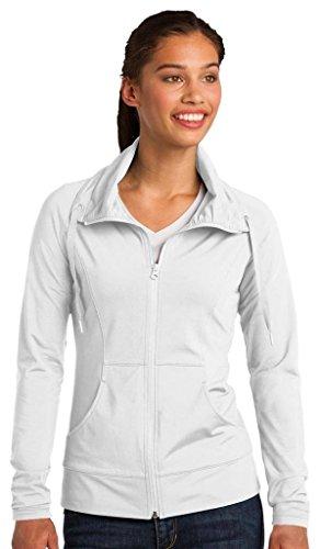 Sport-Tek Women's Sport Wick Stretch Full Zip Jacket S White