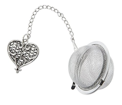Ornate Heart Charm Tea Infuser Ball - By Ganz (Ornate Charm)