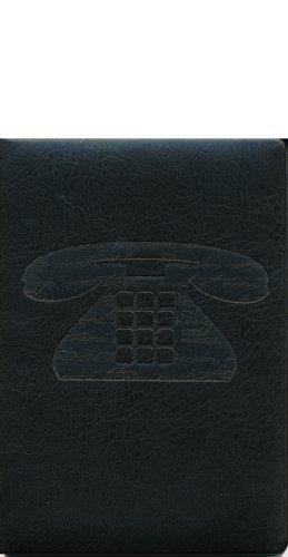 Pierre Belvedere Script Pocket Address Book, Padded Cover, Black (978610) - Belvedere Dash