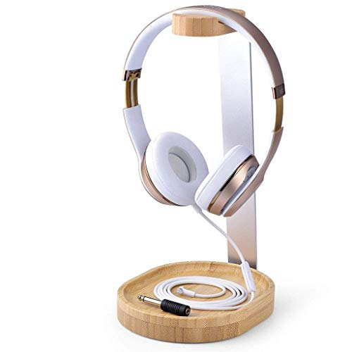(Avantree Universal Wooden & Aluminum Headphone Stand Hanger with Cable Holder for Sony, Bose, Shure, Jabra, JBL, AKG, Gaming Headset and Earphone Display [2 Year Warranty])