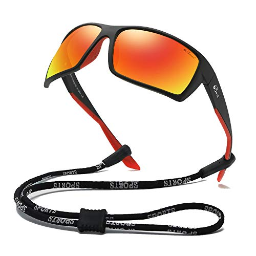 Bevi Sports Sunglasses Polarized Lens/TR 90 Frame with Spring Hinges Glasses For Men Women Cycling Running Baseball 2677C1