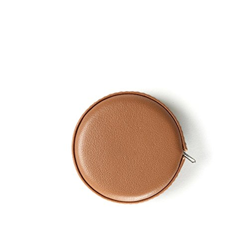 Small Measuring Tape - Full Grain Leather - Cognac (brown) (Leather Measuring Tape)