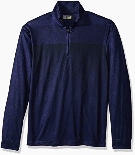 PGA TOUR Men's Elements Long Sleeve 1/4 Zip Pullover, Astral Aura_PVKF70E7, - 1/4 Fleece Zip Mock Neck
