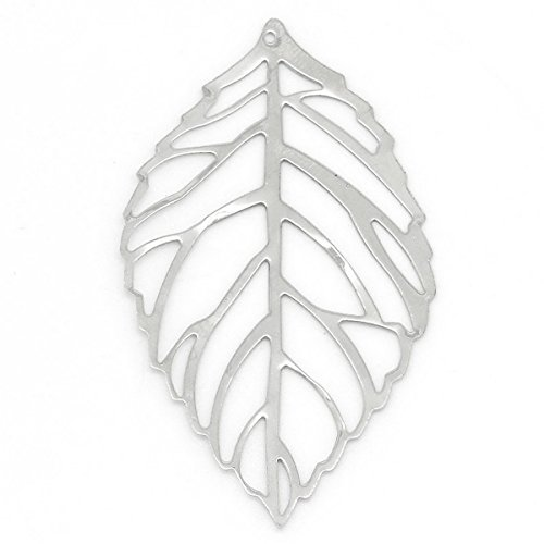 Housweety Pendants Hollow Leaves 5 4cmx3 1cm
