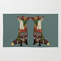 Fox Love Juniper Doormat Floor Mat Rug Inside Rubber Doormat 23.6''(L) x 15.7''(W)