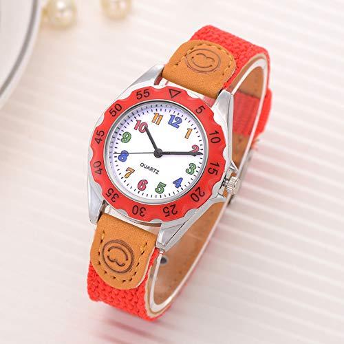 Fashion Children Kids Arabic Numbers Nylon Band Wristwatch Analog Quartz Watch Wrist Studens Watches by Gaweb (Image #8)