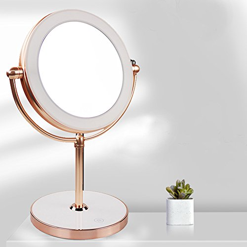 Vanity Mirror with LED lights,Natural Lighted Cosmetic Mirror with 7X Magnification,360 Degree Swivel,Rose Gold by THE D&B CRAFTS LLC (Image #6)