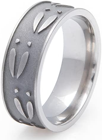 Titanium Ultimate Deer Track Ring Flat Profile 8MM Comfort Fit 5