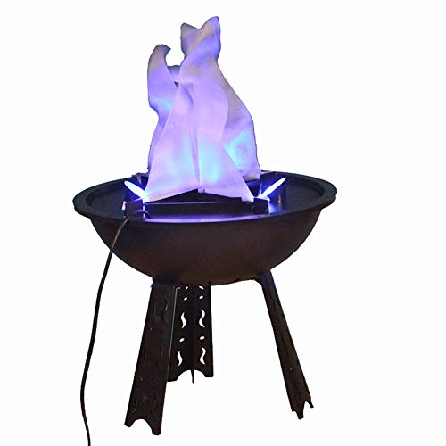 Beacon Pet Electric LED Flame 3D Fake Fire Lamp Eeffect Torch Light Campfire Centerpiece for Halloween Christmas Party Holiday Decoration (Blue Flame Lamp)
