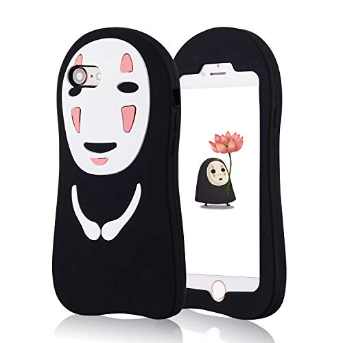 Jowhep Case for iPhone 7/8/SE 2020 4.7″ Silicone Carton Design Cute Cover Fashion Funny Kawaii Anime 3D Skin Protective Accessories Shell Shockproof Scratch Resistant Cases Kids Women Teens Faceless