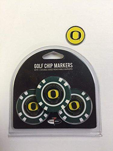 Oregon Ducks Poker Chips 3パックwithボーナスマーカー   B01MQ60PGV