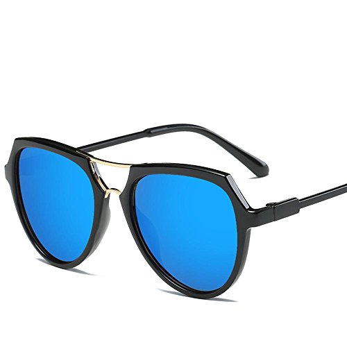 Aoligei Double faisceau lunettes version coréenne fashion lumineux couleur lunettes de soleil réfléchissantes G