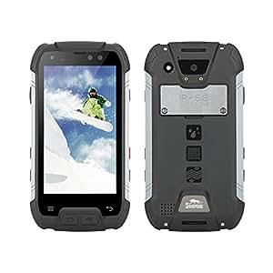 SNOPOW M10 Unlocked 4G LTE IP68 Waterproof Dustproof Shockproof Outdoor Tri-proof Rugged Android Smartphone With DualSIM Powerbank NFC LED Flashlight (Black)