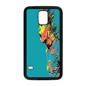 Samsung Galaxy S5 Cases Cristiano Ronaldo Abstract Cheap For Boys, Case For Samsung Galaxy S5 For Men Bloomingbluerose, [Black]