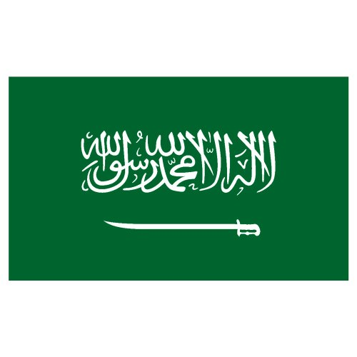 US Flag Store Saudi Arabia 3ft x 5ft Printed Polyester Flag
