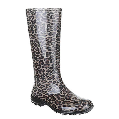 Ba100 femme Buyazzo léopard en bottes caoutchouc AzTzwvqxC