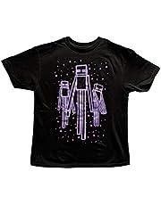 Minecraft Boys Enderman Glow in The Dark T Shirt (Small (8))