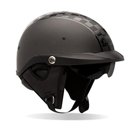 Bell Pit Boss Open Face Motorcycle Helmet (Checkered Twin Tone, X-Large/XX-Large) (Non-Current Graphic)