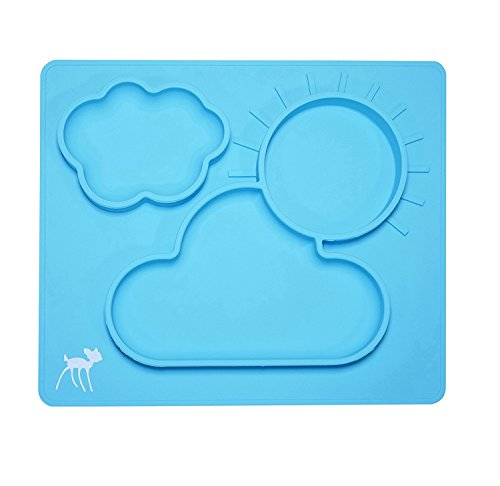 Non-Slip Placemat for Babies, Toddlers, and Kids – 100% Food-Grade Silicone Baby Feeding Plate – BPA- Free, Microwave and Dishwasher Safe – Table Suction Eating Mat for Ages 6 Months and Up by Osho