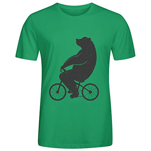 Bear Riding Bike F8z T Shirts Mens Green (Padres Cycling Jersey compare prices)