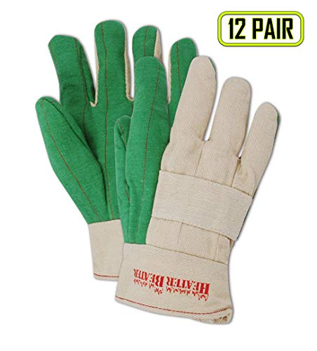 Magid G299KBT Heater Beater 27 oz. Canvas Hot Mill Gloves, Standard, Green (One ()
