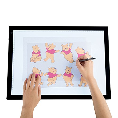 CO-Z A3 LED Drawing Light Box Board, Ultra-Thin Stepless Dimmable Brightness Tracing Tracer Artist Light Pad (A3)