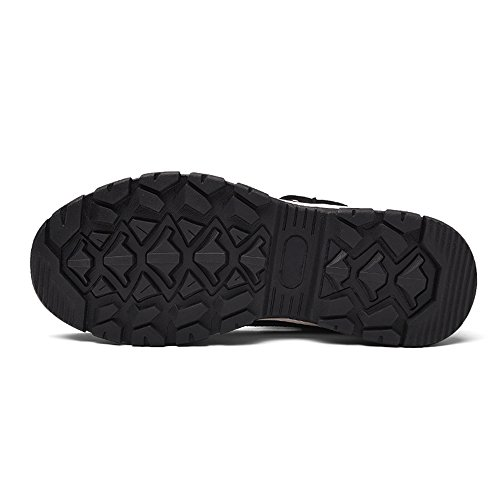 JACKSHIBO Unisex-Erwachsene Winter High-Top Wärme Atmungsaktiv Sneakers Outdoor Rutschfest Sportschuhe Herren Komfortable Winterstiefel Schwarz