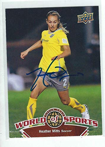 (Heather Mitts Signed 2010 WOS Stars Womens Soccer Card #107 - Upper Deck Certified - Unsigned Soccer Cards)