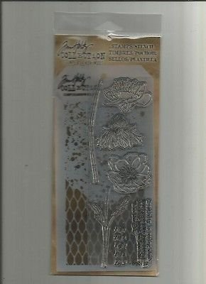 Tim Holtz Stamper's Anonymous Collection Stamp & Stencil - Blossom
