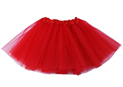 [The Hair Bow Company Girl & Teen Tulle Tutu Skirt for 8-16 years Red] (Red Tutu Kids)