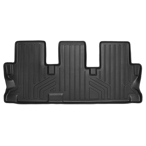 SMARTLINER Floor Mats 3rd Row Liner Black for 2014-2018 Toyota Highlander With 2nd Row Bench Seat ()