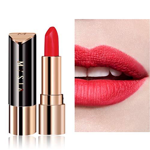 SIS MYSIA Red Lipstick Matte Waterproof Long Lasting Satin Nourish Moisturizing Smooth Soft