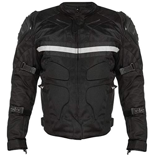 Xelement CF751 Men's Black Tri-Tex Motorcycle Jacket with Level-3 Armor - ()