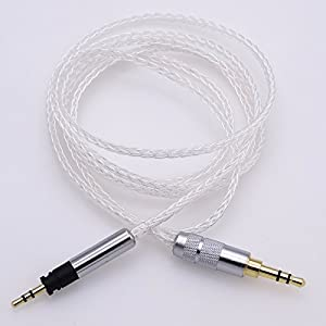 8 cores 5N OCC Litz braid Silver plated Hi-End HIFI Cable for Sennheiser Momentum Headphone Upgrade Cable