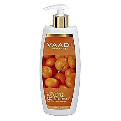Vaadi Herbals Equidad crema hidratante con extracto de mandarina, 350 ml