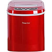 Ice Maker, Magic Chef Compact Portable Electric Automatic Ice Makers, Red