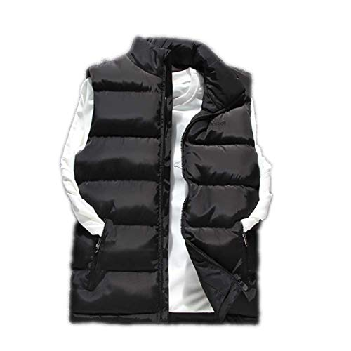 Solid Down R Waistcoat Sleeveless Black Vest Jacket Mensto Thick Warm Windproof Winter Slim 1qFwRAX
