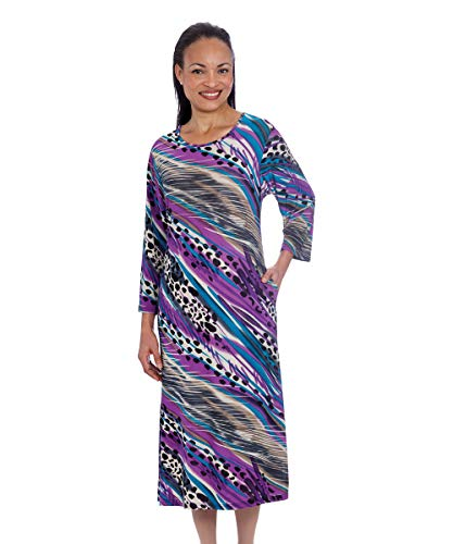 Womens Adaptive Wheelchair Dress Open Back Dress Stylish - Multi-Purple SMA ()