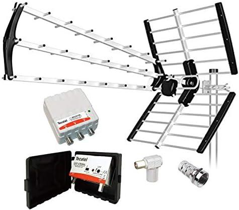 Tecatel Kit Antena BKM-18 Negra + Conjunto Amplificador Y ...