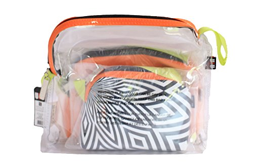 Giftcraft PVC Cosmetic Travel Gift Storage Zipper Bag Set of