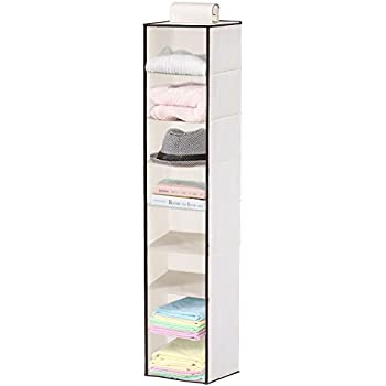 Hanging Closet Organizer, MaidMAX Collapsible Hanging Closet Shelf Wardrobe Shoe Organizer/ Holder for Clothes Shoes Sweater Accessory Hat Towel Camper Storage, 8 Shelves