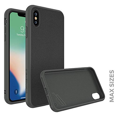 RhinoShield Case for iPhone Xs Max [SolidSuit] by Shock Absorbent Slim Design Protective Cover with Premium Matte Finish [3.5M / 11ft Drop Protection] - Microfiber/Graphite